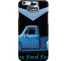 1955 Ford F100 V8 Pickup in Profile iPhone Case/Skin