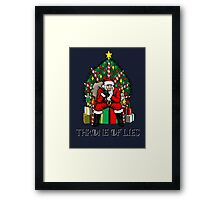 Throne of Lies Framed Print