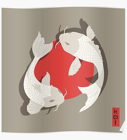 Koi Fish 001 Poster