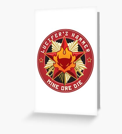Lucifer's Hammer Crest Greeting Card