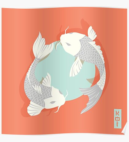 Koi Fish 004 Poster