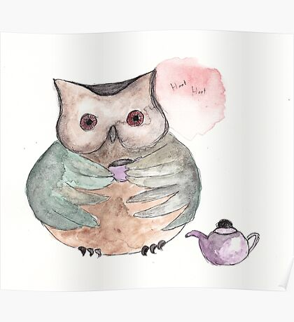 Time For Tea Owl Poster