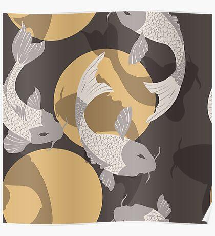 Koi fish pattern 003 Poster