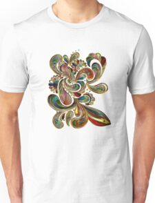 Abstract, Paisley Stained Glass Unisex T-Shirt