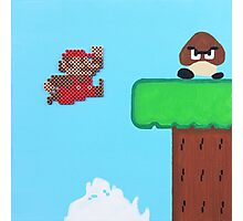 Super Mario Bros. NES (Paint 'n' Beads) Photographic Print