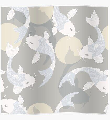Koi fish pattern 004 Poster