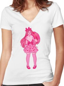 Valentine Girl Women's Fitted V-Neck T-Shirt