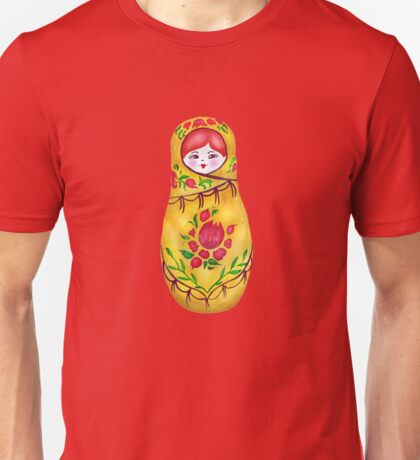 Matryoshka on Greenery Unisex T-Shirt