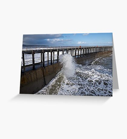 A windy day. Greeting Card