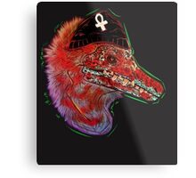 Punk Raptor Metal Print