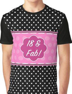 18th Birthday Fabulous Graphic T-Shirt