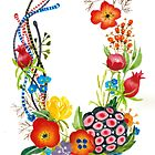 Watercolor Floral wreath by yaskii