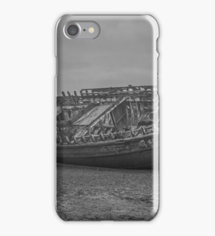 Shipwreck in monochrome  iPhone Case/Skin