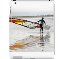 lone Atlantic windsurfer getting ready to surf iPad Case/Skin
