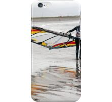 lone Atlantic windsurfer getting ready to surf iPhone Case/Skin