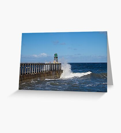 Waves rolling in. Greeting Card