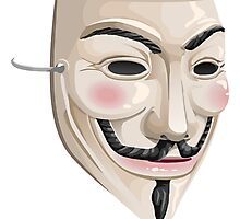 Glitch Hats Guy Fawkes mask Photographic Print