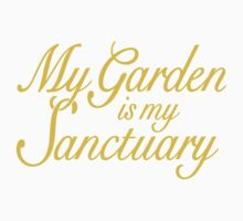 My Garden is my Sanctuary Garden Quote (Yellow) Kids Clothes