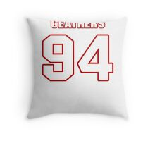 NFL Player Clifton Geathers ninetyfour 94 Throw Pillow