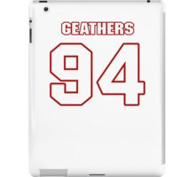 NFL Player Clifton Geathers ninetyfour 94 iPad Case/Skin