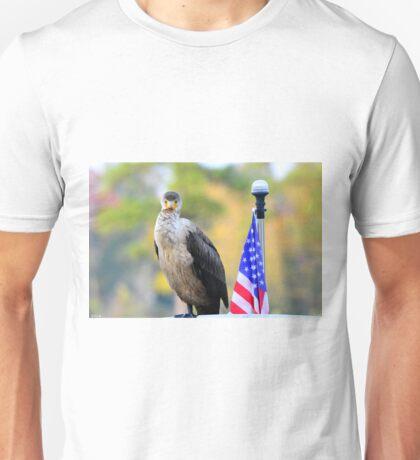 Cormorant Standing Proud Unisex T-Shirt