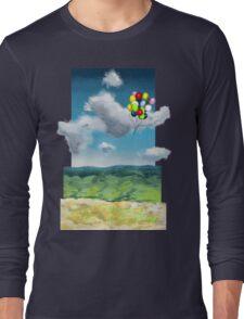 Balloons Over a Sky Long Sleeve T-Shirt