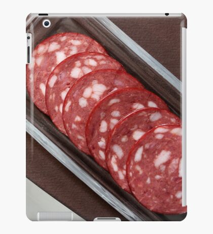 slices salami on a plate iPad Case/Skin