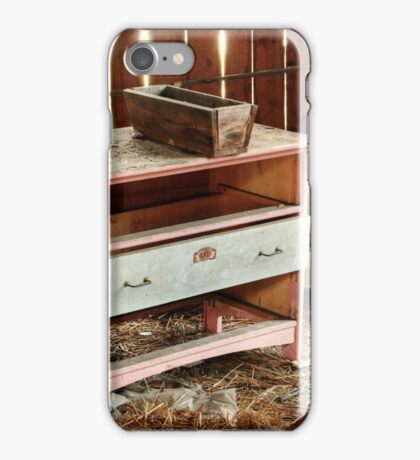 5.11.2014: Old Drawer in Abandoned Hayshed iPhone Case/Skin