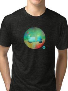 Mod Vespa - Colour on Black Tri-blend T-Shirt