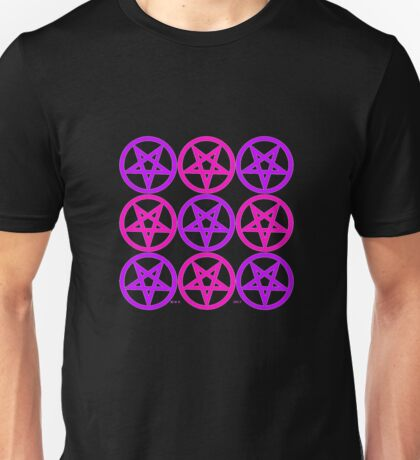 PENTAGRAMS PURPLE AND PINK Unisex T-Shirt