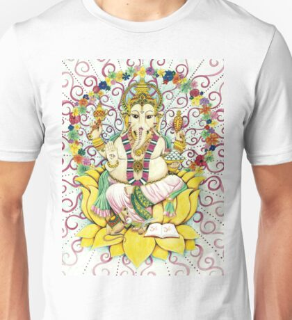 Ganesha Hindu elephant God - remover of obstacles Unisex T-Shirt