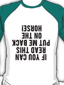 Equestrian Funny Horse T-Shirt