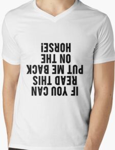 Equestrian Funny Horse Mens V-Neck T-Shirt