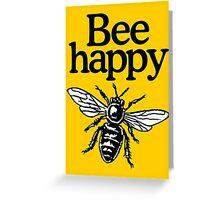 Bee Happy Beekeeper Design Greeting Card