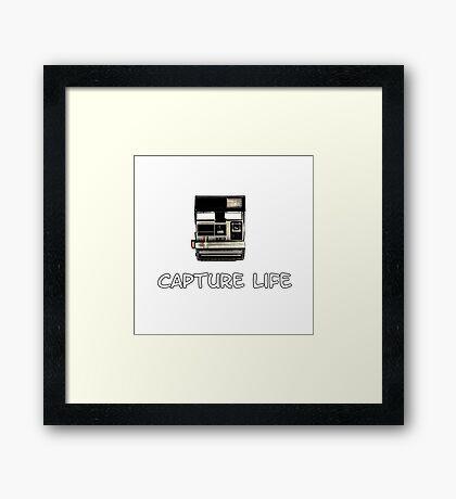 Capture Life Framed Print