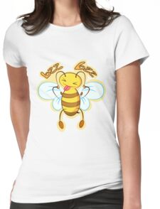 Funny bee Womens Fitted T-Shirt