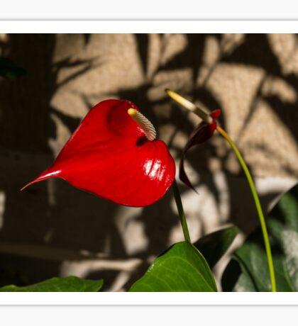 A Glossy Heart Flower for My Valentine Sticker