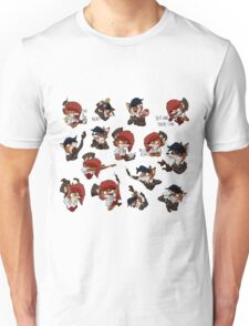 Steampunk Fox Emojis Deluxe (fit to Large) Unisex T-Shirt