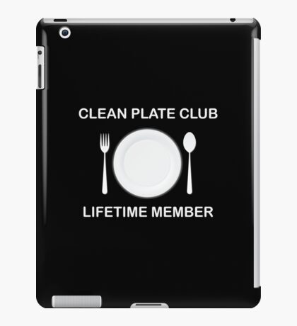 Clean Plate Club iPad Case/Skin
