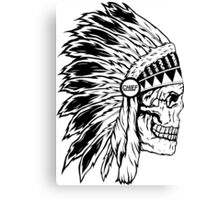 Chief Headress Canvas Print