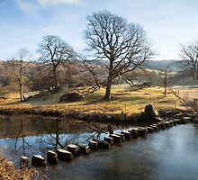 Stepping Stones across the River Rothay by Stephen Read