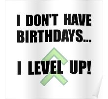 Level Up Birthday Poster