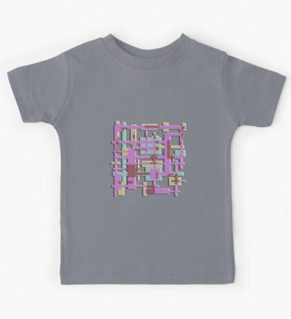 Geometric Squares Kids Tee