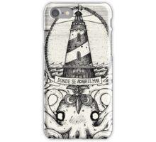 retro lighthouse iPhone Case/Skin