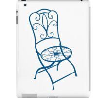BISTRO FOLDING CHAIR - BLUE iPad Case/Skin