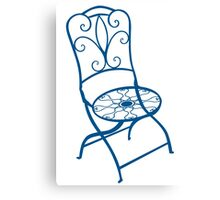 BISTRO FOLDING CHAIR - BLUE Canvas Print