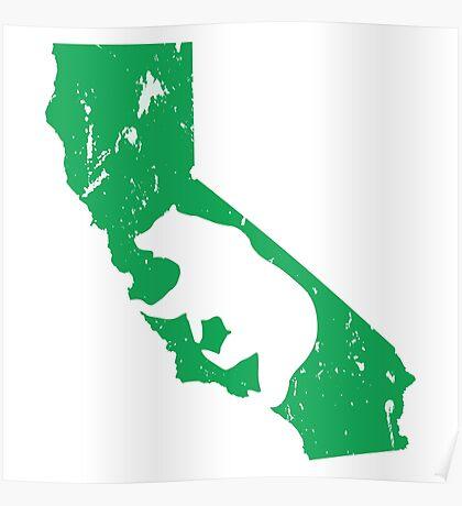California Bear - Teal Poster