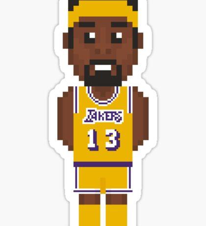 Wilt Chamberlain - Los Angeles Lakers 72' Sticker