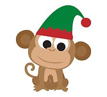 Christmas Elf Monkey by Eggtooth