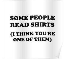 Read Shirts Poster